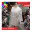 เสื้อคลุมแฟชั่น ผ้าลูกไม้มีลายดอกไม้ ขอบแต่งพู่ สีขาว thumbnail 7