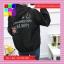 เสื้อคลุมแฟชั่น มีฮูด แขนยาว ผ้าร่ม ลาย Smile สีดำ thumbnail 4
