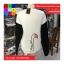 เสื้อกันหนาวแฟชั่น คอกลม แขนยาวทูโทน ลายแมวเหมียวน่ารัก สีขาว thumbnail 6
