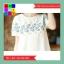 เดรสแฟชั่น คอกลม แขนตุ๊กตา ปักลายดอกไม้ สีขาว thumbnail 4