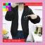 เสื้อคลุมแฟชั่น มีฮูด แขนยาว ผ้าร่ม ลาย Smile สีดำ thumbnail 1