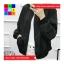 เสื้อคลุม แขนยาว ซิปหน้า ลาย what you ผ้าร่ม สีดำ thumbnail 4