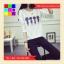 เสื้อแฟชั่น คอกลม แขนยาว ลายขวาง 4 สหาย สีขาว thumbnail 4