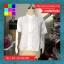 เสื้อเชิ๊ตแฟชั่น เปิดไหล่ ผ้าผูกแขน สีขาว thumbnail 13