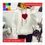 เสื้อกันหนาวแฟชั่น มีฮูด แขนยาว ลายหัวใจ thumbnail 4