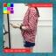 เสื้อแฟชั่น คอวี ปกเชิ๊ต แขน4ส่วน ชายเย็บเก๋ๆ ลายสก๊อต สีแดง thumbnail 6