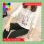 เสื้อแฟชั่น คอกลม แขนยาว ลายการ์ตูน สีขาว thumbnail 7