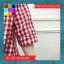เสื้อแฟชั่น คอวี ปกเชิ๊ต แขน4ส่วน ชายเย็บเก๋ๆ ลายสก๊อต สีแดง thumbnail 8