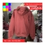 เสื้อคลุม ผ้าฝ้าย บุกันหนาว มีฮูด แขนยาว ลายหนวด สีแดง thumbnail 9