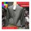 เสื้อแฟชั่น แขนยาว คอกลม สม๊อคเอว ลายทาง สีดำ thumbnail 9