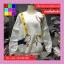เสื้อแฟชั่น คอกลม แขนยาว บุกันหนาว ลายโดนัล สีขาว thumbnail 7