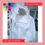 เสื้อคลุม แขนยาวผ้าร่ม มีฮูด ซิปหน้า สีขาว thumbnail 6