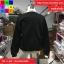 เสื้อกันหนาวแฟชั่น คอปีน แแขนยาว แต่งผ้าต่อ สีดำ thumbnail 8
