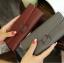 กระเป๋าสตางค์ใบยาว หนังเรียบ 3 พับ เก๋ๆ thumbnail 6
