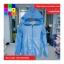 เสื้อคลุม แขนยาวผ้าร่ม มีฮูด ซิปหน้า สีฟ้า thumbnail 6