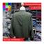 เสื้อคลุม แขนยาว ซิปหน้า ผ้า poly ester สีเขียว thumbnail 10