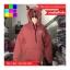 เสื้อคลุม ผ้าฝ้าย บุกันหนาว มีฮูด แขนยาว ลายหนวด สีแดง thumbnail 6
