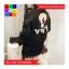 เสื้อคลุมกันหนาว แขนยาว ซิปหน้า ลาย VIVI สีดำ thumbnail 4