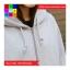 เสื้อคลุมกันหนาว มีฮูด แขนยาว ผ้าฝ้าย บุกันหนาว สีพื้น สีเทา thumbnail 3
