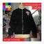 เสื้อคลุมกันหนาว แขนยาว ซิปหน้า ลาย VIVI สีดำ thumbnail 5