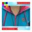 เสื้อคลุม แขนยาว ผ้าฝ้าย มีฮูด กระเป๋าหน้า สีฟ้า thumbnail 5