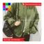 เสื้อคลุม แขนยาว ซิปหน้า ผ้า poly ester สีเขียว thumbnail 6