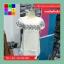 เดรสแฟชั่น คอกลม แขนตุ๊กตา ปักลายดอกไม้ สีขาว thumbnail 6