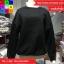 เสื้อกันหนาวแฟชั่น คอปีน แแขนยาว แต่งผ้าต่อ สีดำ thumbnail 6