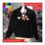 เสื้อคลุมกันหนาว แขนยาว ซิปหน้า ลาย VIVI สีดำ thumbnail 7