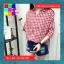 เสื้อแฟชั่น คอวี ปกเชิ๊ต แขน4ส่วน ชายเย็บเก๋ๆ ลายสก๊อต สีแดง thumbnail 2