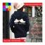 เสื้อคลุม บุกันหนาว มีฮูด แขนยาว ลายหนวด สีน้ำเงิน thumbnail 4
