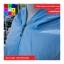 เสื้อคลุม แขนยาวผ้าร่ม มีฮูด ซิปหน้า สีฟ้า thumbnail 8