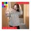 เสื้อแฟชั่น แขนยาว คอกลม สม๊อคเอว ลายทาง สีดำ thumbnail 6