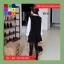 เดรสแฟชั่น แขนยาวทรงตุ๊กตา ผ้าฝ้าย สีดำ thumbnail 8