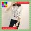 เสื้อแฟชั่น คอกลม แขนยาว ลายการ์ตูน สีขาว thumbnail 4