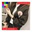 เสื้อคลุมกันหนาว แขนยาว ซิปหน้า ลาย VIVI สีดำ thumbnail 1