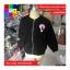เสื้อคลุมกันหนาว แขนยาว ซิปหน้า ลาย VIVI สีดำ thumbnail 6