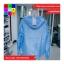 เสื้อคลุม แขนยาวผ้าร่ม มีฮูด ซิปหน้า สีฟ้า thumbnail 7