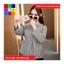 เสื้อแฟชั่น แขนยาว คอกลม สม๊อคเอว ลายทาง สีดำ thumbnail 5
