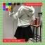 เสื้อคลุมแฟชั่น มีฮูด แขนยาว ซิปหน้า สีเทา thumbnail 2
