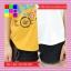 เสื้อแฟชั่น คอกลม แขนสั้น ลายเก๋ๆ นกอินทรีย์ ทูโทน เหลือง-ขาว thumbnail 4
