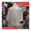 เสื้อคลุมแฟชั่น ผ้าลูกไม้มีลายดอกไม้ ขอบแต่งพู่ สีขาว thumbnail 8