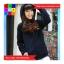 เสื้อคลุม บุกันหนาว มีฮูด แขนยาว ลายหนวด สีน้ำเงิน thumbnail 3