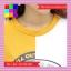เสื้อแฟชั่น คอกลม แขนสั้น ลายเก๋ๆ นกอินทรีย์ ทูโทน เหลือง-ขาว thumbnail 6