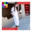 ชุด 2 ชิ้น เสื้อแฟชั่น คอปีน แขนจั๊ม + กางเกง3 ส่วน สีขาว thumbnail 2