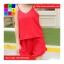 ชุด 2 ชิ้น เสื้อสายเดี่ยว + กางเกงขาสั้น ขาระบาย สีแดง thumbnail 5