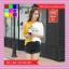 เสื้อแฟชั่น คอกลม แขนสั้น ลายเก๋ๆ นกอินทรีย์ ทูโทน เหลือง-ขาว thumbnail 2