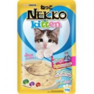 เน็กโกะ เพาซ์ ลูกแมว สูตรปลาทูน่ามูสผสมนมแพะ 12ซอง