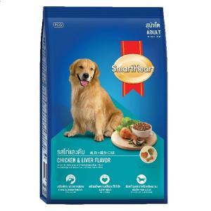 อาหารสุนัข สมาร์ทฮาร์ท สุนัขโต รสไก่และตับ 20 กิโลกรัม ส่งฟรี