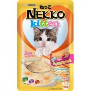 เน็กโกะ เพาซ์ ลูกแมว สูตรปลาทูน่ามูสผสมแซลมอน 12ซอง